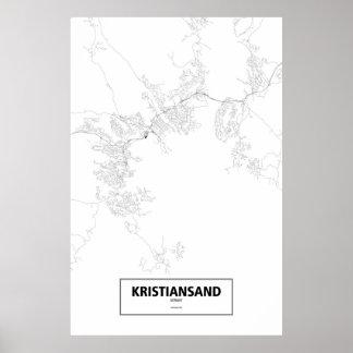 Kristiansand, Noruega (negro en blanco) Posters