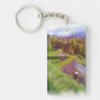 Kristiansten Fortress view Rectangle Acrylic Keychains