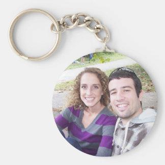 Kristin and Kelly Basic Round Button Keychain