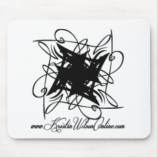Kristin Wilson's Large Time To Be CD Logo Mouse Pad