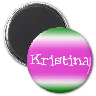 Kristina 2 Inch Round Magnet