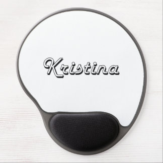 Kristina Classic Retro Name Design Gel Mouse Pad