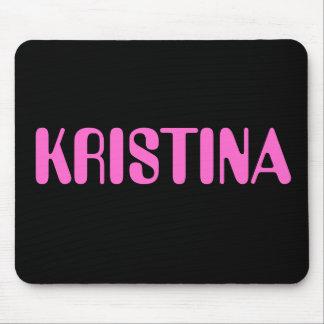 Kristina name mousepad