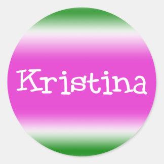 Kristina Classic Round Sticker