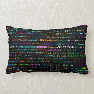 Kristina Text Design I Lumbar Pillow