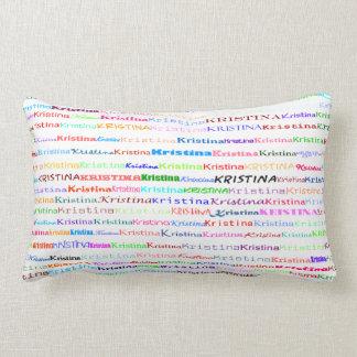Kristina Text Design II Lumbar Pillow