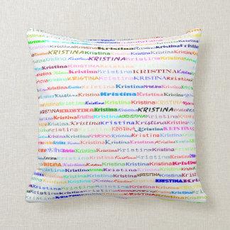 Kristina Text Design II Throw Pillow