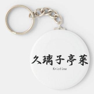 Kristina translated into Japanese kanji symbols. Keychain