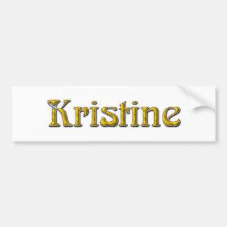 Kristine Bumper Stickers
