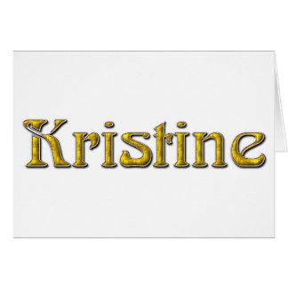 Kristine Card