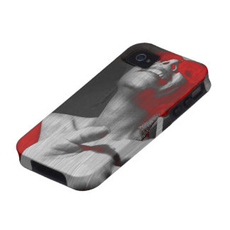Kristine in Red iPhone 4 Cases