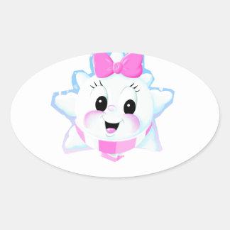 Kristl Popp-Kinn Round Smiley Oval Sticker
