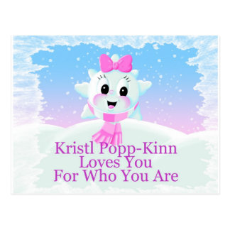 Kristl Says She Loves You For Who You Are Postcard