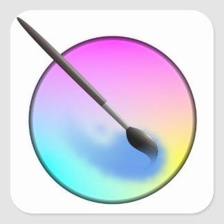 Krita icon sticker pegatina cuadrada