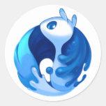 Krita mascot sticker pegatina redonda