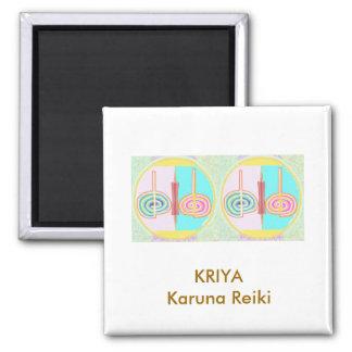 KRIYA - Karuna Reiki 2 Inch Square Magnet