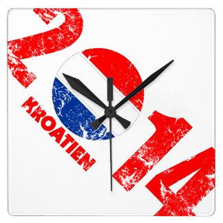 kroatien_2014.png reloj de pared
