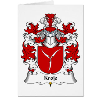 Kroje Family Crest Greeting Card
