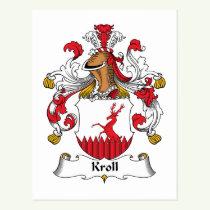Kroll Family Crest Postcard