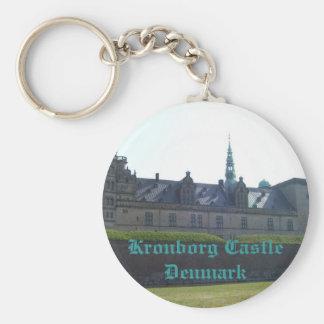 Kronborg Castle Denmark Basic Round Button Keychain