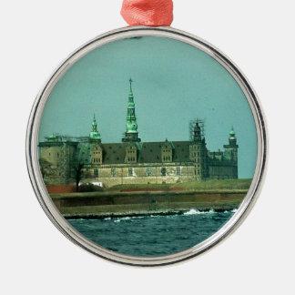 Kronborgs Castle Hamlets Castle In Denmark Metal Ornament