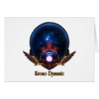 Krono Dynamic Fractal Art Greeting Card