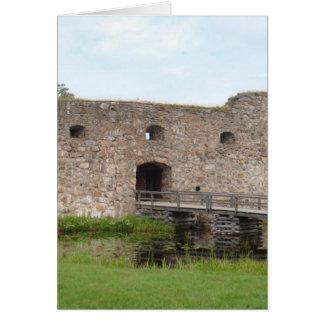 Kronoberg Castle Ruins - Sweden Card