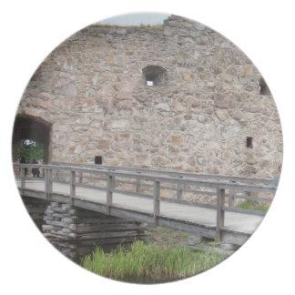 Kronoberg Castle Ruins - Sweden Dinner Plate