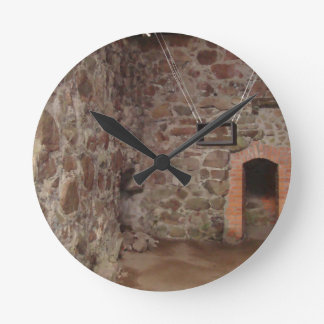 Kronoberg Castle Ruins - Sweden Round Clock