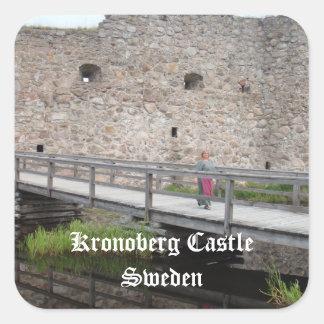 Kronoberg Castle Ruins - Sweden Square Sticker