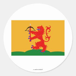 Kronobergs län flag classic round sticker