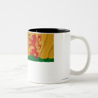 Kronobergs län waving flag Two-Tone coffee mug