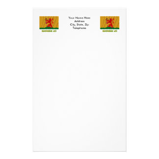 Kronobergs län waving flag with name personalized stationery