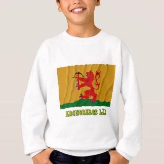 Kronobergs län waving flag with name sweatshirt