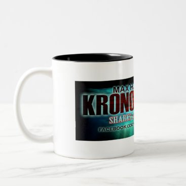 "Coffee Themed Kronos Rising ""Sharks are just bait"" coffee mug"