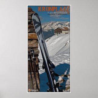 Kronplatz - esquís en el mojón impresiones