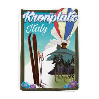 Kronplatz Italy ski travel poster Magnet