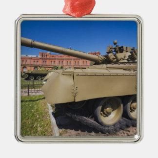Kronverksky Island, Artillery Museum, tanks Square Metal Christmas Ornament