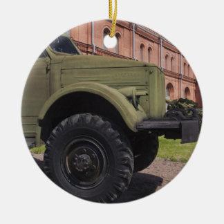 Kronverksky Island, Artillery Museum, truck Double-Sided Ceramic Round Christmas Ornament