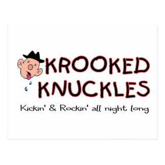 Krooked Knuckles, kicking and rocking Postcard