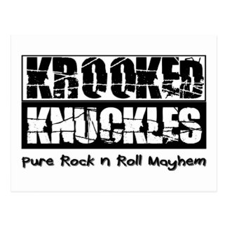 Krooked Knuckles, pure rock n roll mayhem Postcard