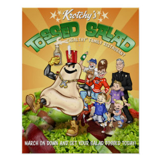 Krotchy's Tossed Salad Poster