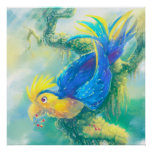 Krou the Parrot Poster