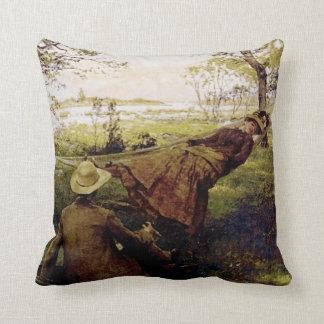 Krouthen's Siesta in a Hammock Throw Pillow