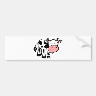 KROWA CUTE BABY COW FARM ANIMALS CARTOON HAPPY LIG BUMPER STICKERS