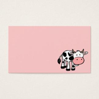 KROWA CUTE BABY COW FARM ANIMALS CARTOON HAPPY LIG BUSINESS CARD