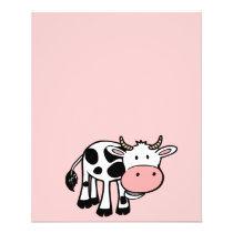 KROWA CUTE BABY COW FARM ANIMALS CARTOON HAPPY LIG FLYER