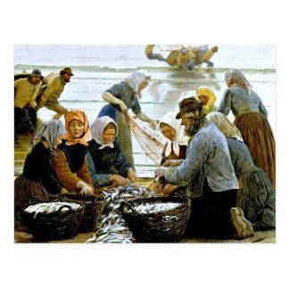 Kroyer - Women and Fishermen of Hornbaek Postcard