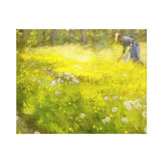 Kroyer's Garden at Skagen Canvas Print