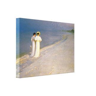 """Kroyer's """"Summer Afternoon on Skagen Beach"""" Canvas Print"""